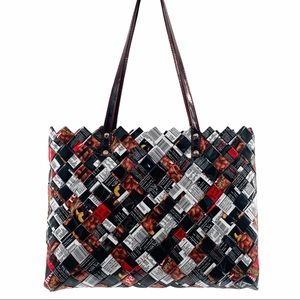 Nahui Ollin Peanuts Recycled Wrapper Tote Shoulder Bag
